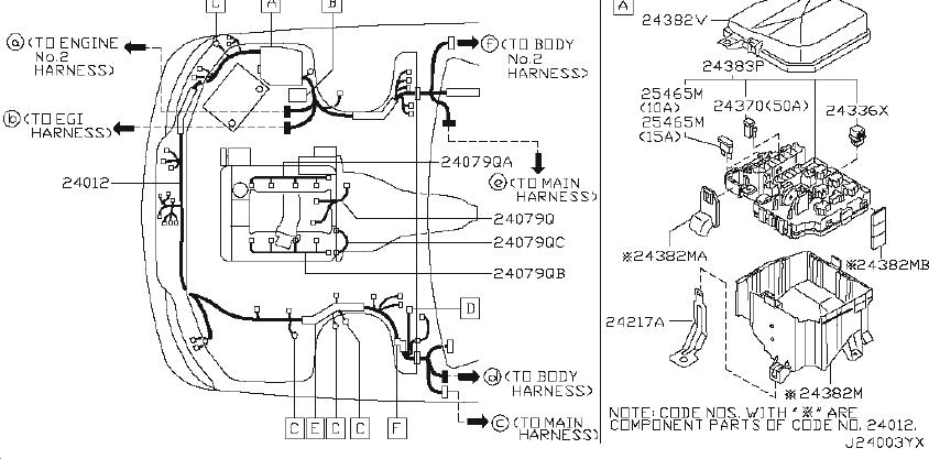 Infiniti Q45 Fuse  Coupe  Wiring  Sed