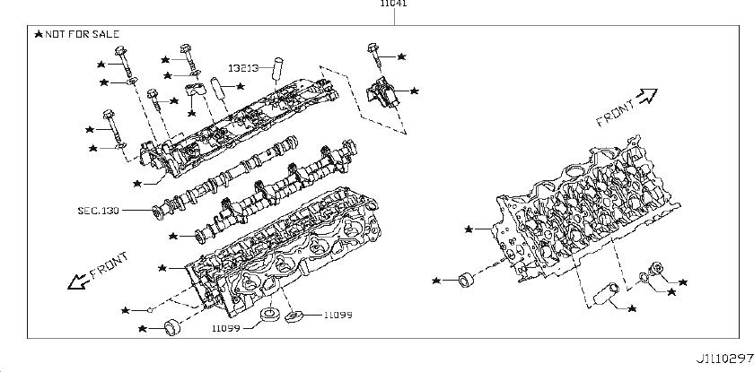 Infiniti Qx56 Engine Valve Cover Gasket  Component
